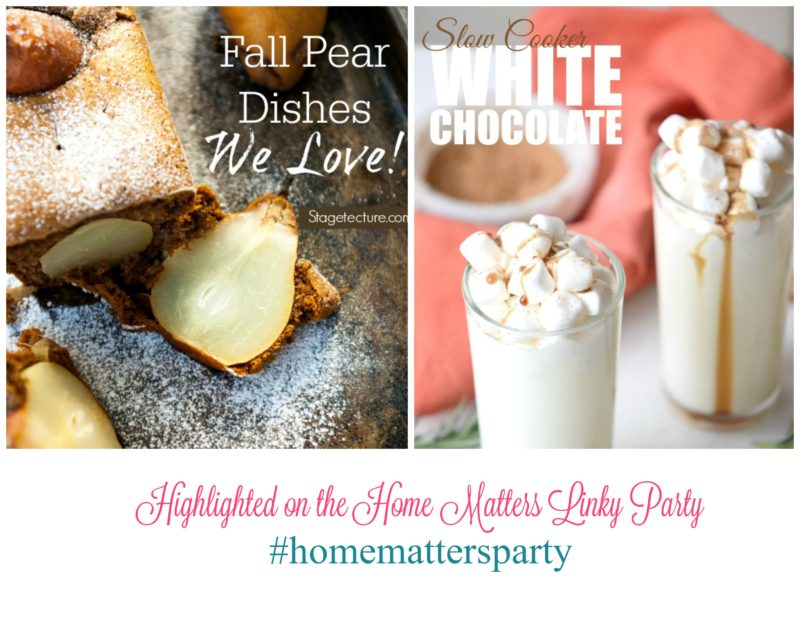 Come join the fun and link your blog posts at the Home Matters Linky Party 107. Find inspiration recipes, decor, crafts, organize -- Door Opens Friday EST.