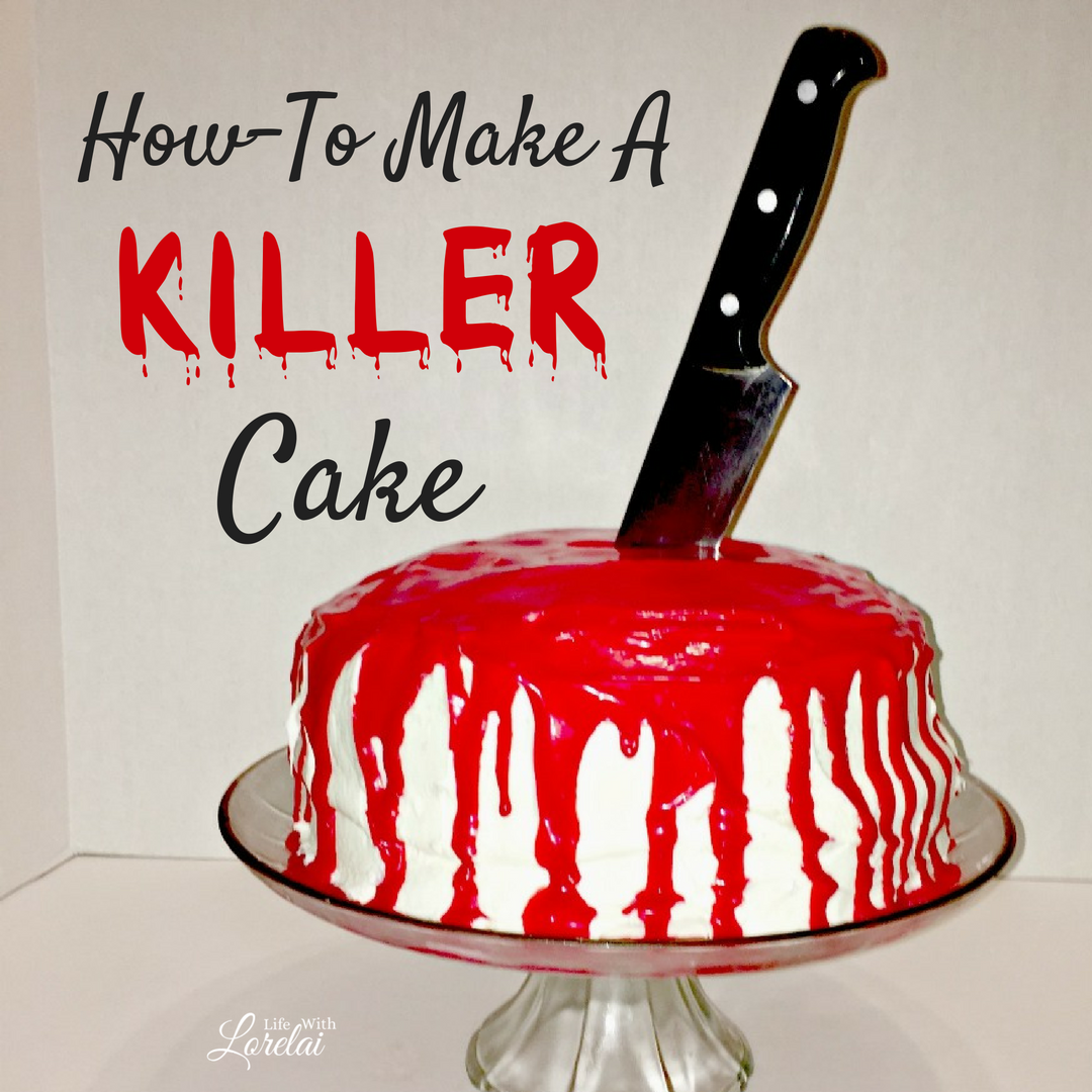 If you are dying to make a Killer Cake, you've come to the right place! This recipe will slay your guests at your next Halloween or Mystery Party.