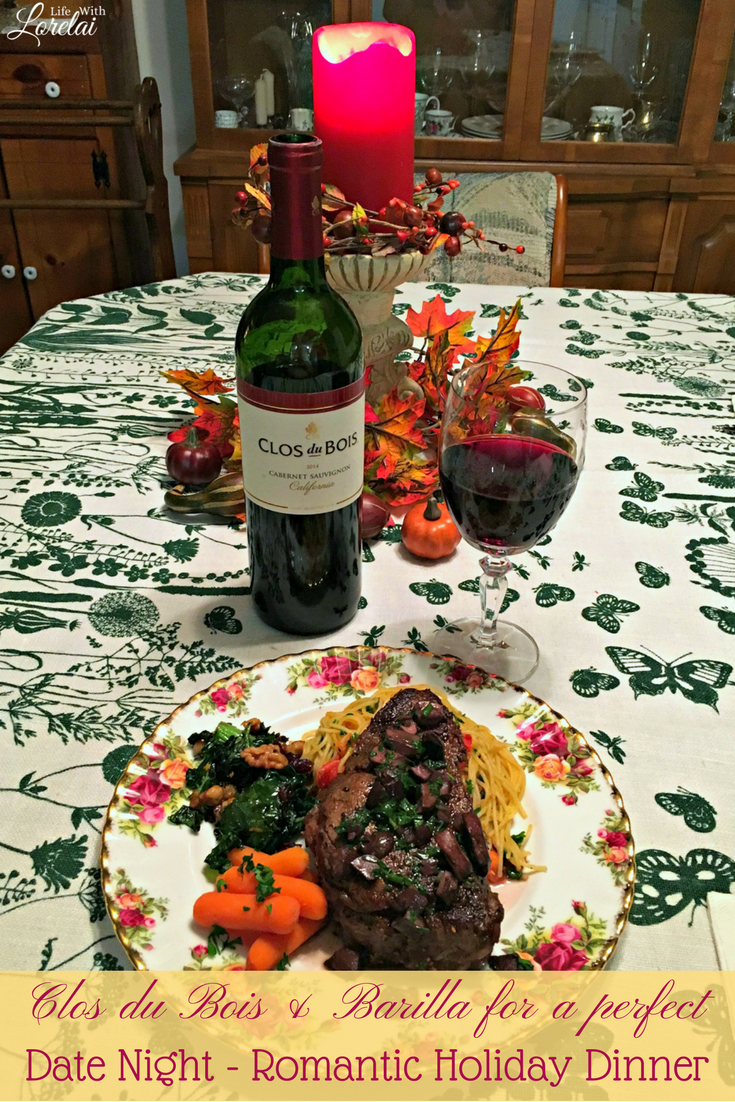Msg 4 21+ Slow down for a romantic dinner this busy holiday season. Enjoy date night with Barilla pasta and Clos du Bois wines. AD #TheTalkOfTheTable