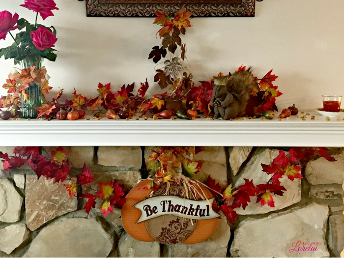 Add style to your home and fireplace with this easy DIY Mantel Makeover for under $50. Use crown moulding to add detail to home decor. AD #Prep4Gathering