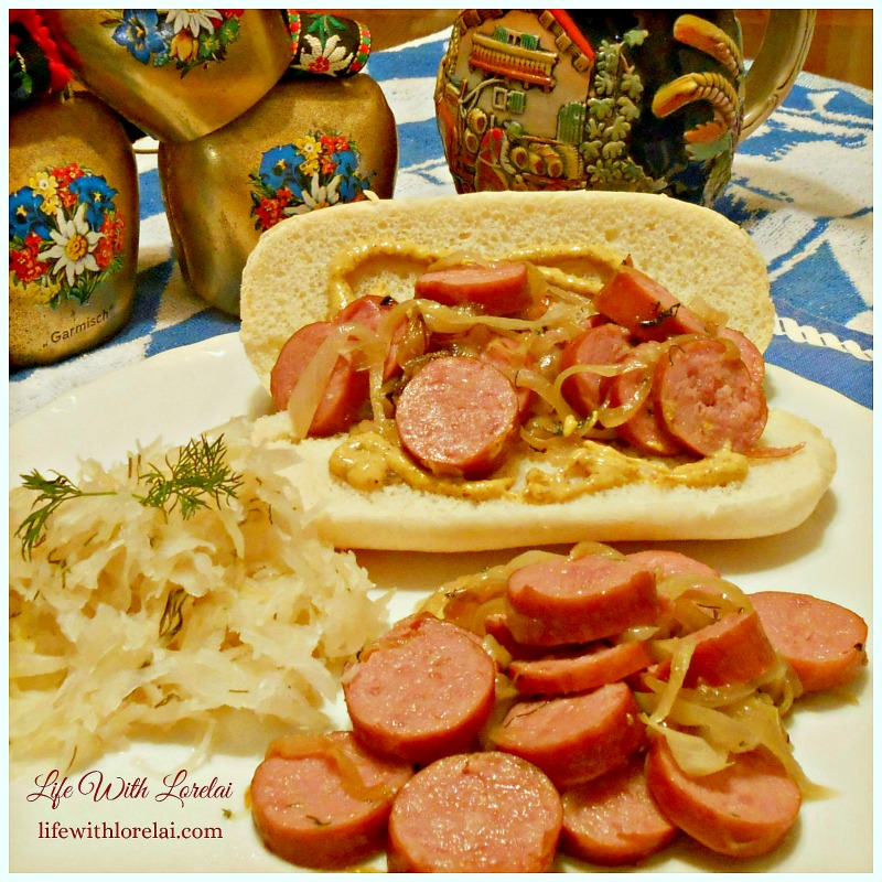 Polska Kielbasa and Caramelized Onions Recipe - Serve as a salad or a sandwich.