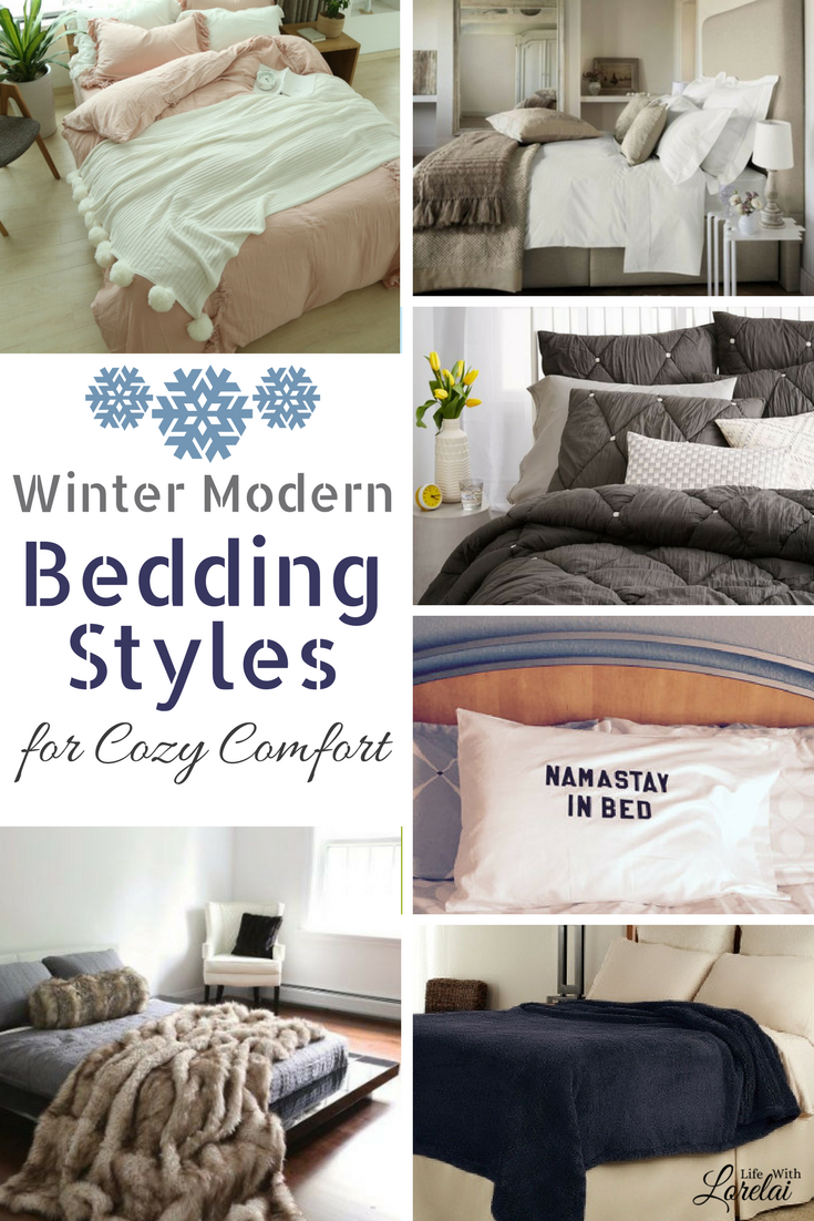 Make your bed comfy and cozy with these modern bedding styles and ideas for winter. Relax and enjoy staying indoors cuddled up in your bedroom.