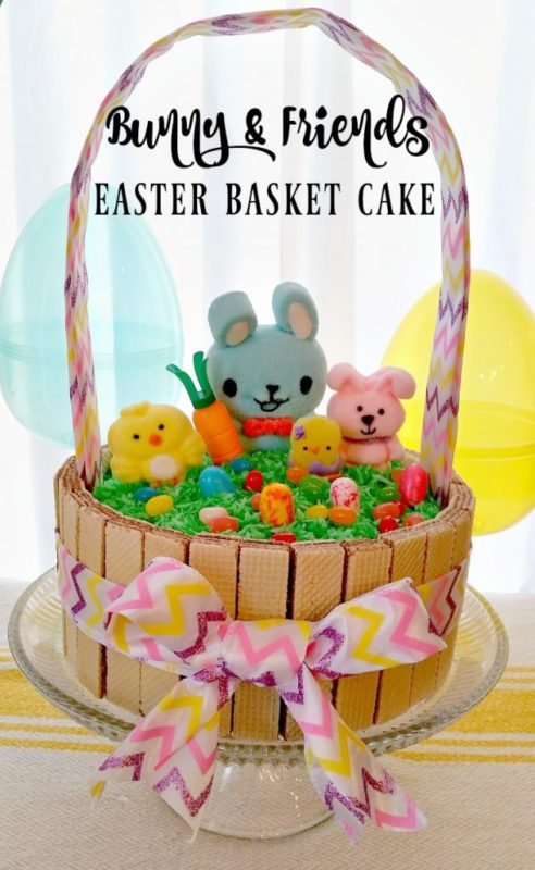 Bunny Friends Easter Basket Cake-My Pinterventures - HMLP 127 Feature