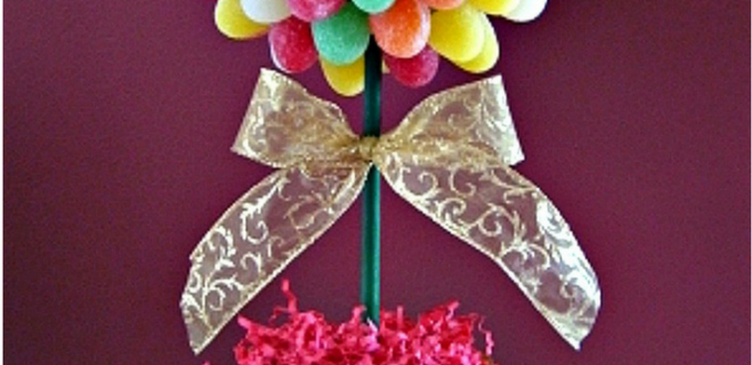This adorable gumdrop topiary DIY is great for home decor and parties, as well as being a fun craft for kids highlighting math skills and textures.