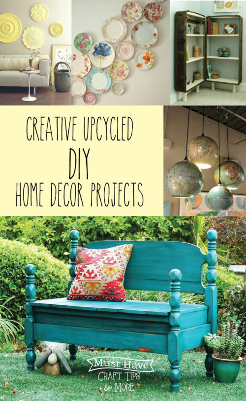 Creative Upcycled DIY Home Decor Projects - Flamingo Toes - HMLP Feature 125