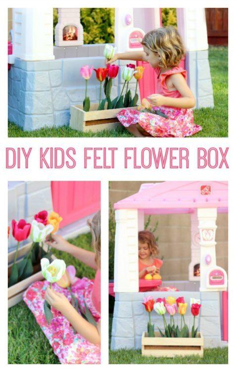 DIY Kids Felt Flower Box - Gluesticks - HMLP Feature 129
