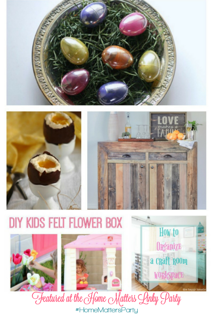 Come join the fun and link your blog posts at the Home Matters Linky Party 129. Find inspiration recipes, decor, crafts, organize -- Door Opens Friday EST.