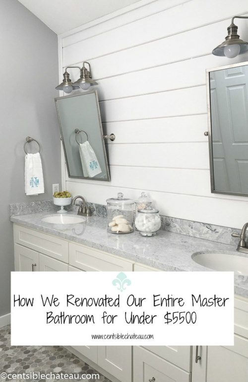 Master Bathroom Remodel On A Budget - Centsible Chateau - HMLP Feature 125