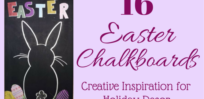 Find creative inspiration for your own Easter Chalkboards DIY, or get a printable! Holidays are always fun for decorating, make this Easter special.