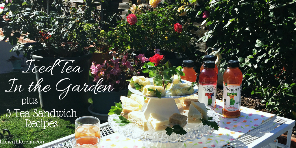 Enjoy nature and relax in the garden this spring and summer with Iced Tea and Tea Sandwiches. Get the recipes! AD #HonestSustainabiliTEA #RefreshinglyHonest