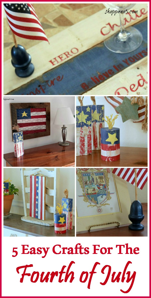 5 Easy Crafts For The Fourth Of July - Shoppe No. 5 - HMLP 141 Feature