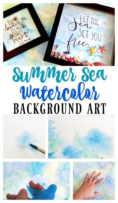 Summer Sea Watercolor Background Art - My Pinterventures - HMLP 142 Feature