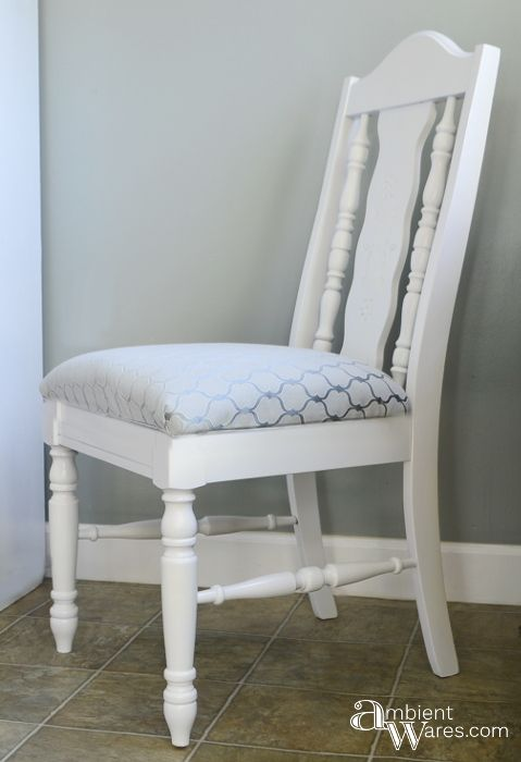 Chair Makeover With Added Secret Storage Compartment - Ambient Wares - HMLP 143 Feature