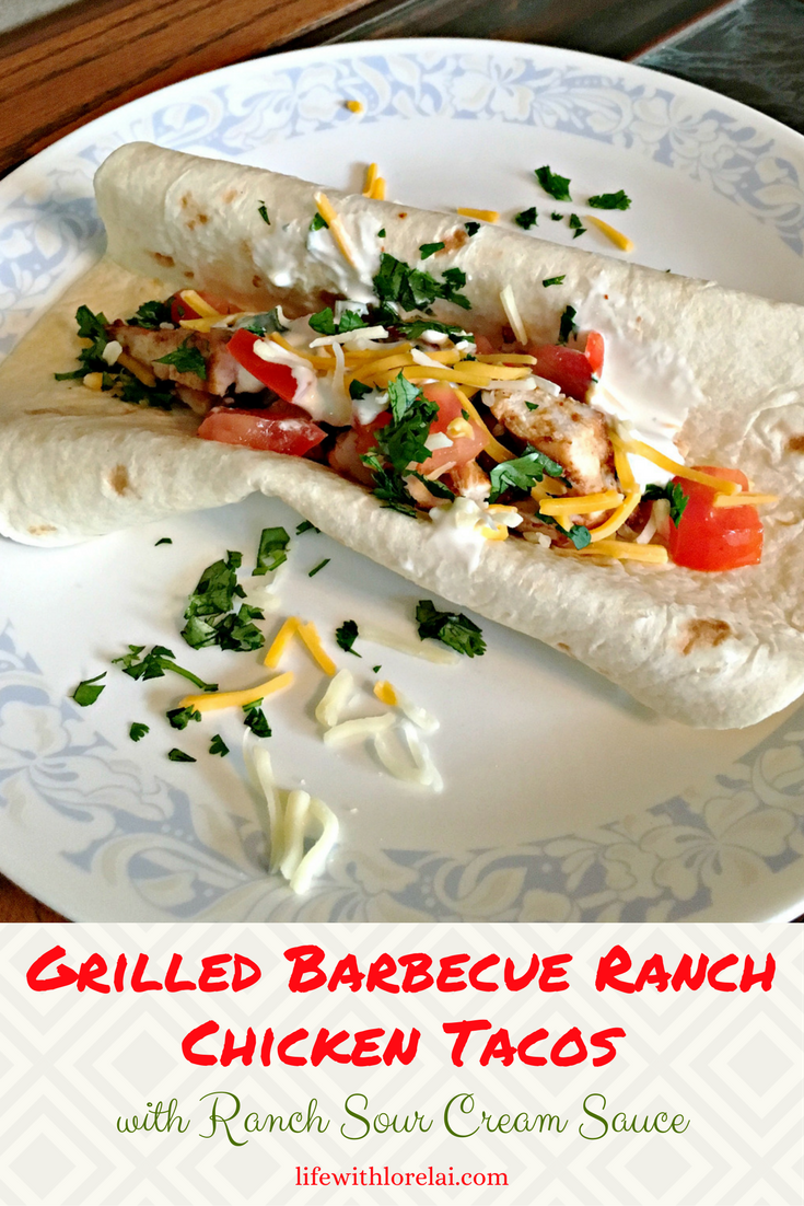 Looking for a quick, easy meal? Try these Grilled Barbecue Ranch Chicken Tacos. Perfect for busy weeknights or anytime. Mexican American fusion food recipe.
