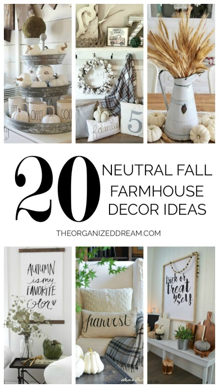20 Neutral Fall Farmhouse Decor Ideas - The Organized Dream - HMLP 149 Feature