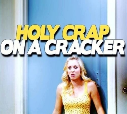 Holy Crap on a Cr acker - Penny - Big Bang Theory