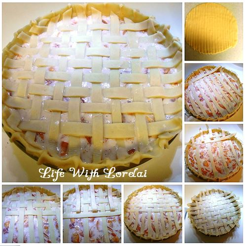 Fresh Nectarine Pie Lattice Top Pie Crust from Life With Lorelai