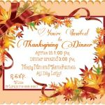 An Invitation To Thanksgiving