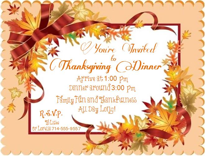 Thanksgiving Invitaion 2013 - Life With Lorelai