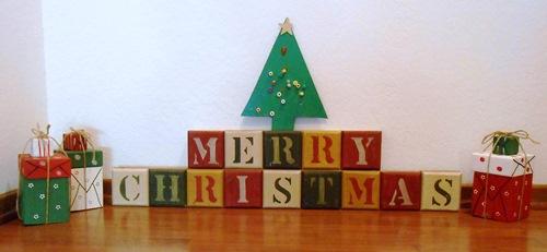 Merry Christmas Blocks | Life With Lorelai