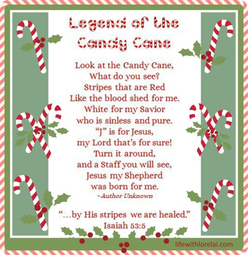 image regarding The Story of the Candy Cane Printable identified as Sweet Cane Legend with Printables - Lifetime With Lorelai
