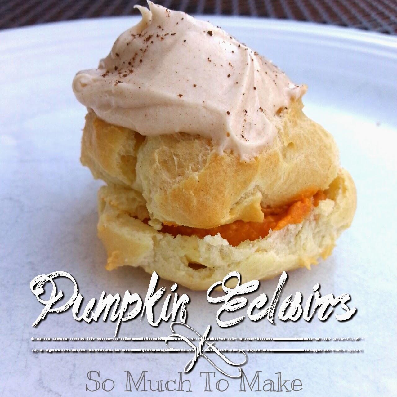 Pumpkin Eclairs
