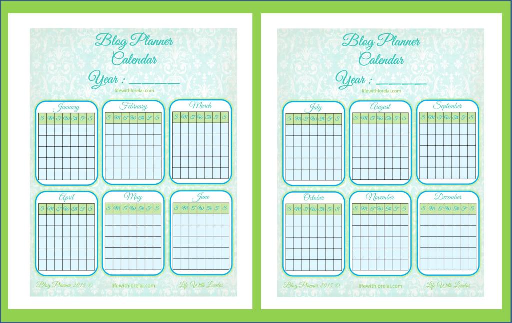 Blog Planner Universal Calendar - lifewithlorelai.com