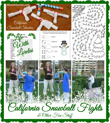California Snowball Fights & Other Fun Stuff - Life With Lorelai