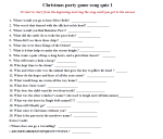 Chirstmas Party Game Song Quiz 1 - Life With Lorelai