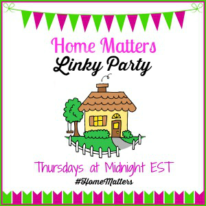 Home Matters Linky Party Logo - Side Bar