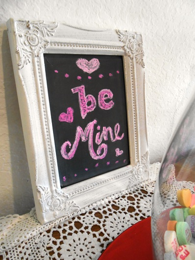 Be Mine Valentine's Day Chalkboard