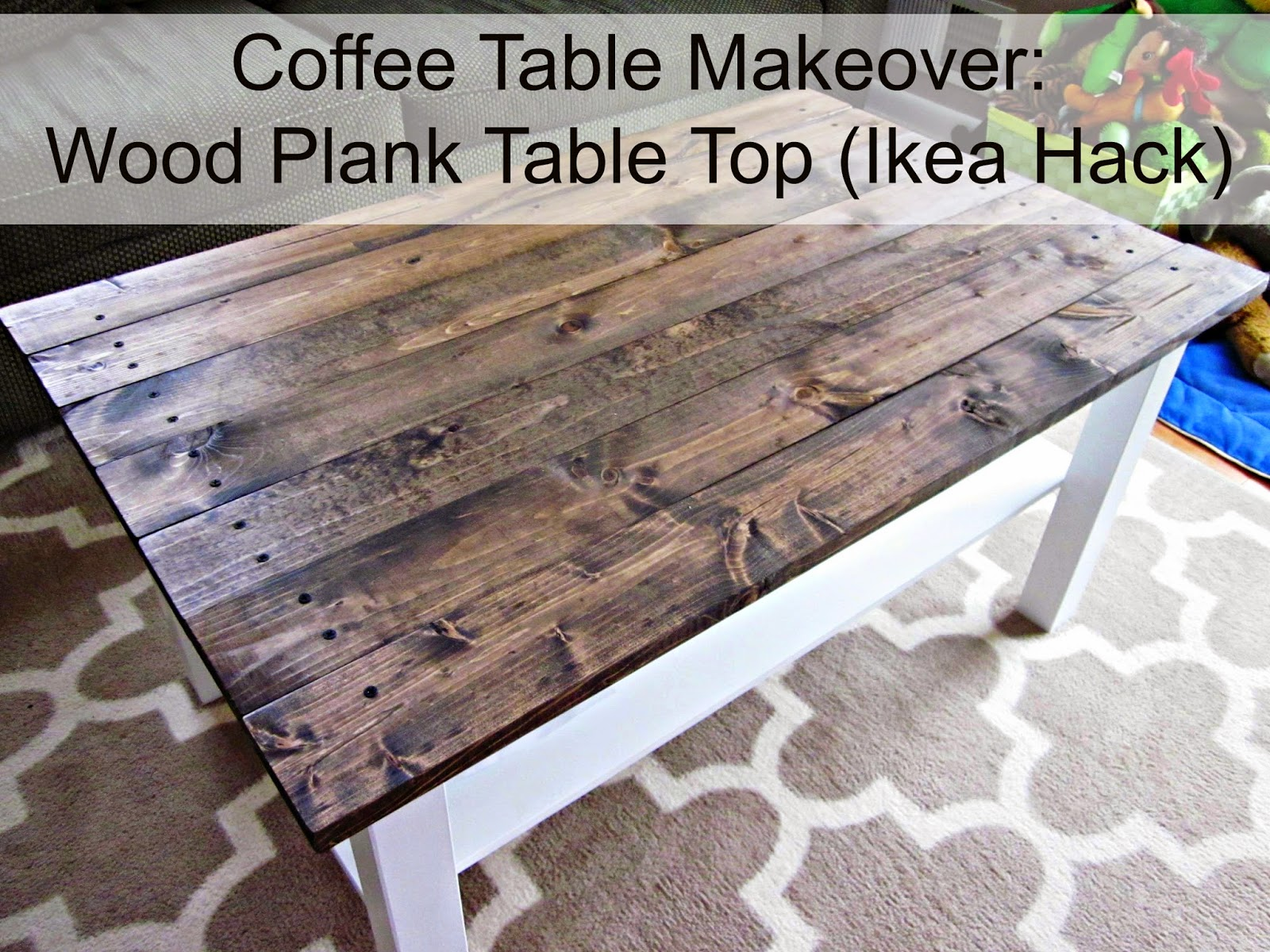 Coffee Table Makeover - Featured at HMLP 23Jan2015