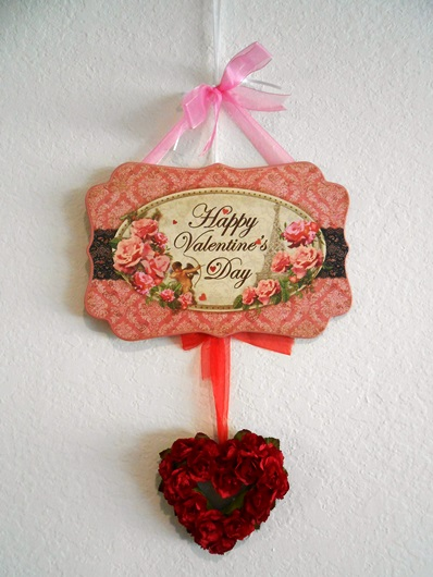 Victorian Valentine with Red Rose Heart