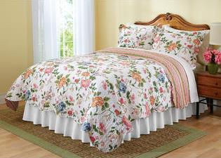 Amie Floral Stripe Reversible Quilt - Sears