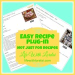 EasyRecipe Plug-In Not Just For Recipes