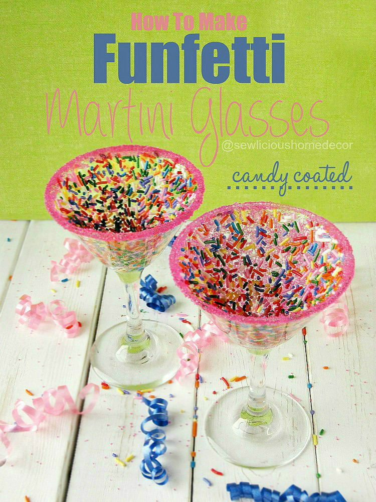 Candy Coated Funfetti Martini Glasses - HMLP Feature