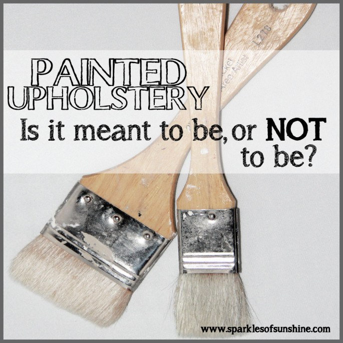 Painted Upholstery - Meant To Be or NOT To Be - HMLP Feature