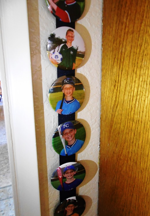 Make your child a star in your home with this easy DIY display for their sports buttons.