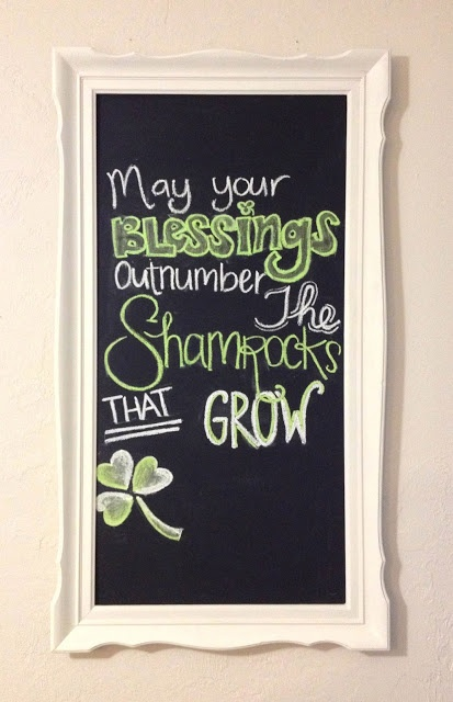 St Patricks Day Chalkboard 3