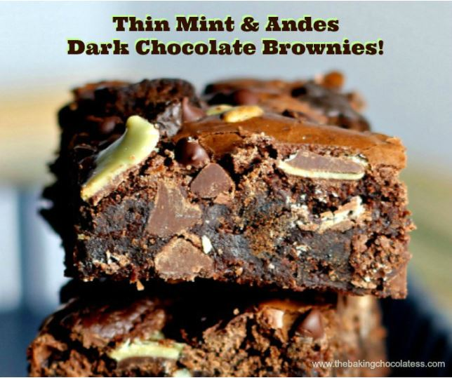 Thin Mint and Andes Dark Chocolate Brownies - HMLP Feature