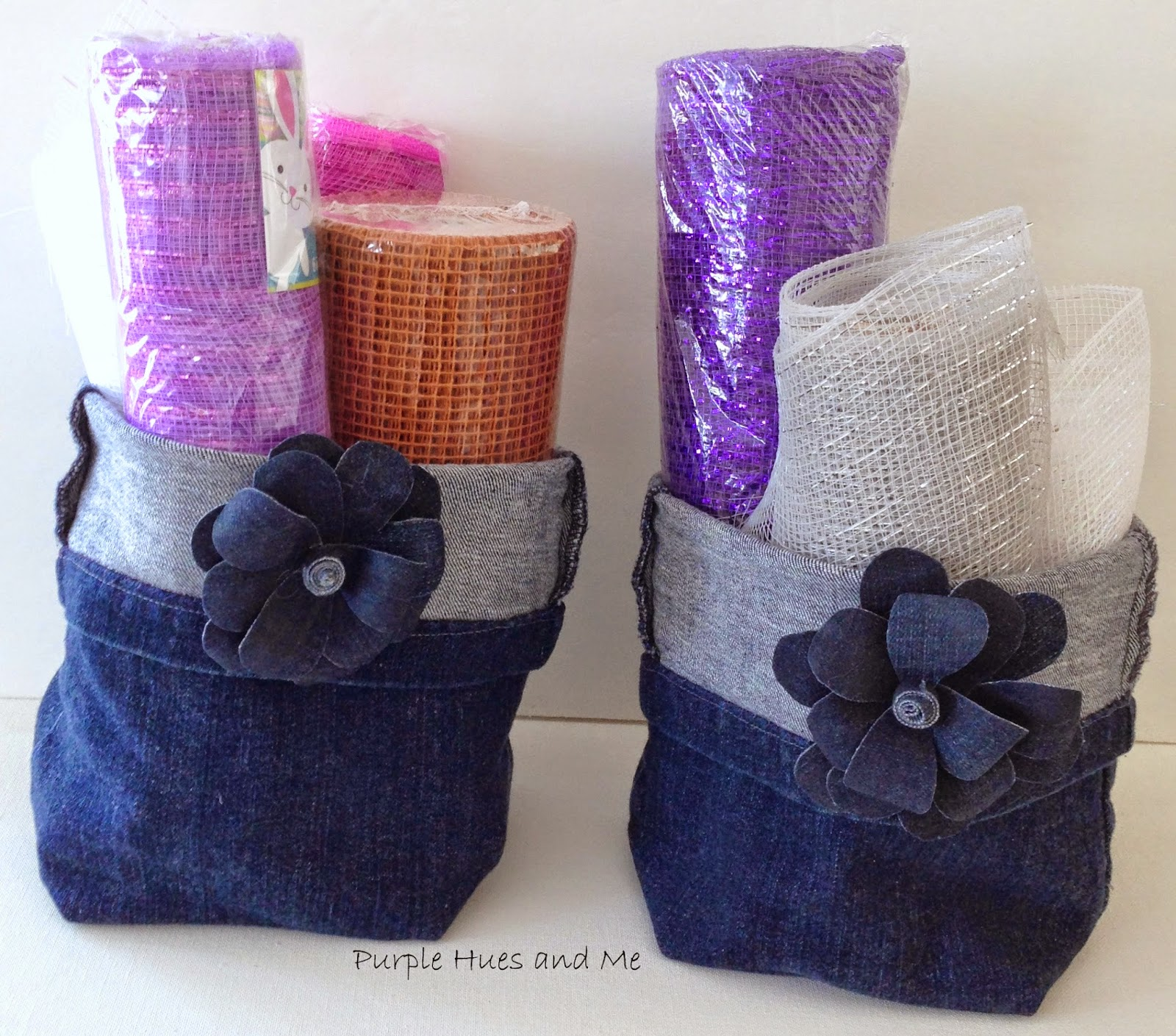 Easy Hand-Sewn Upcycled Denim Storage Basket - HMLP Feature