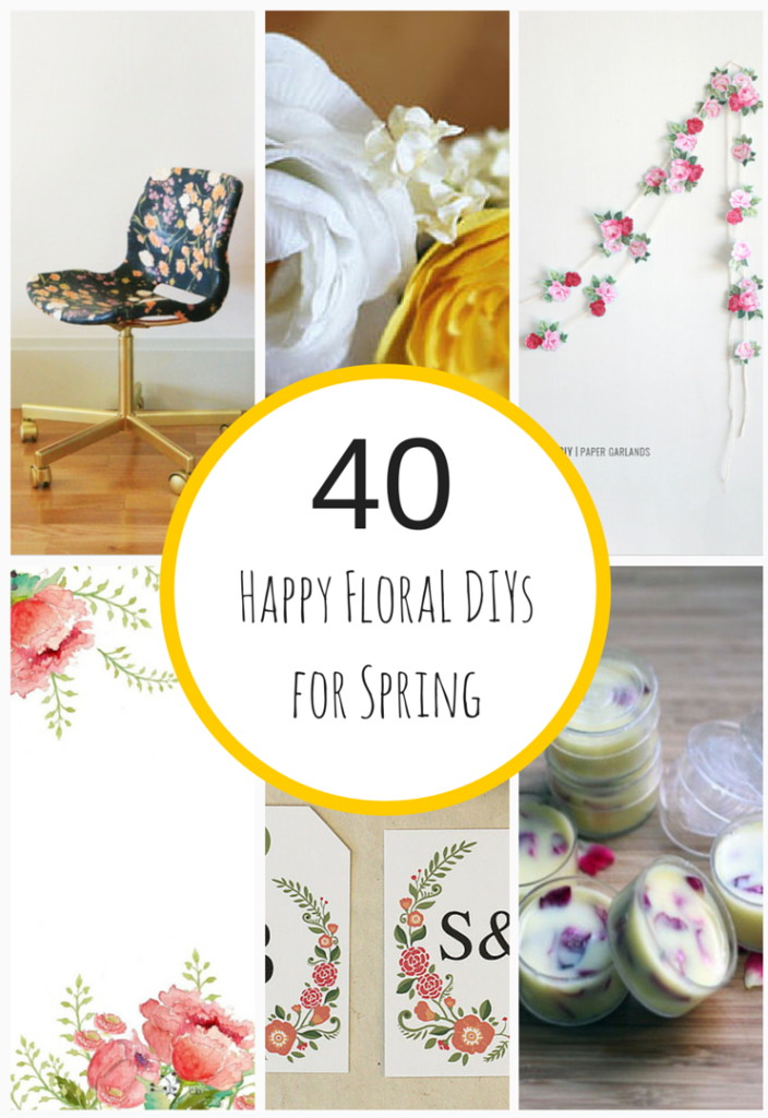 40 Happy Floral DIY Projects for Spring - HMLP Feature 2015-MAR-27