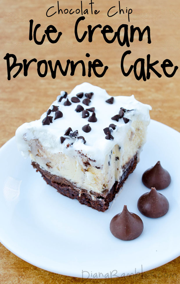 Chocolate Chip Ice Cream Brownie Cake - HMLP Feature