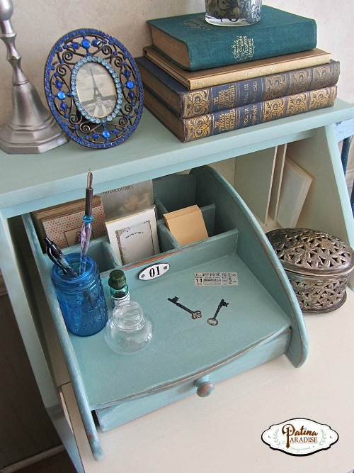 Shabby Chic Dropleaf Desk & Organizer - HMLP 44 Feature