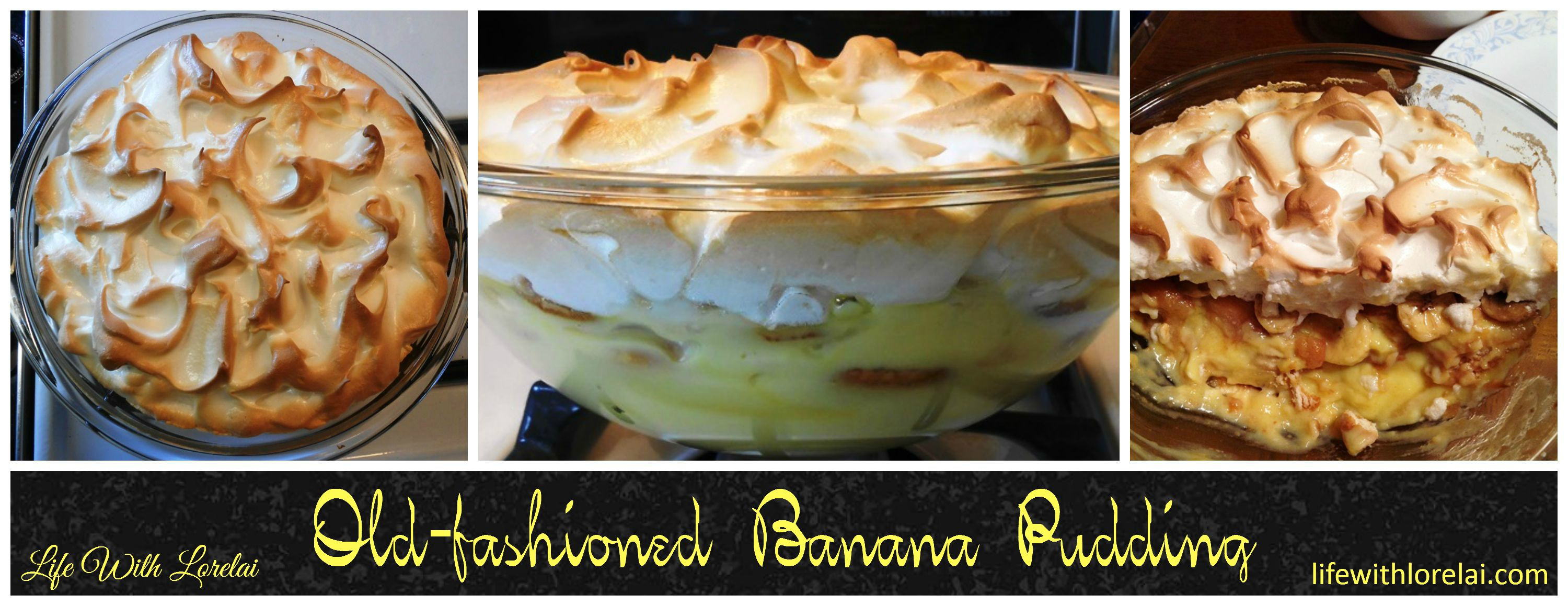 Banana Pudding with Meringue Topping - Life With Lorelai