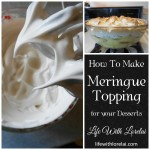 Meringue Topping – Desserts Crowning Glory