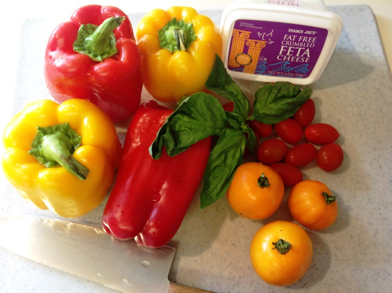Ingredients for Tomato & Grilled Bell Pepper Salad