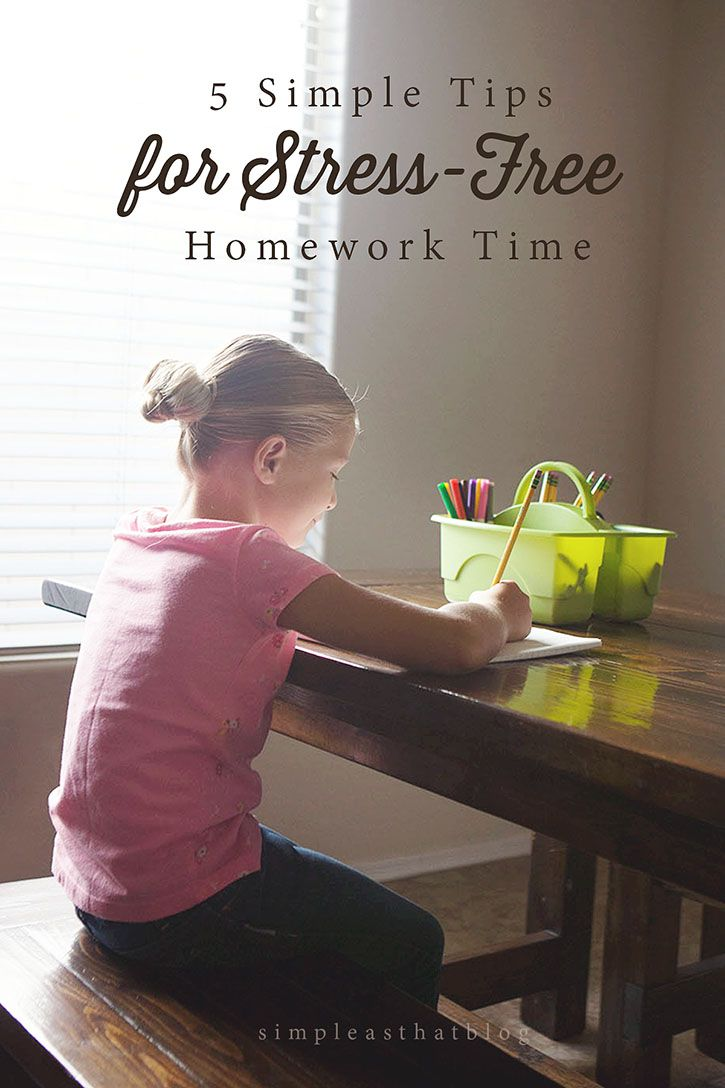 5 Simple Steps For Stress-Free Homework Time