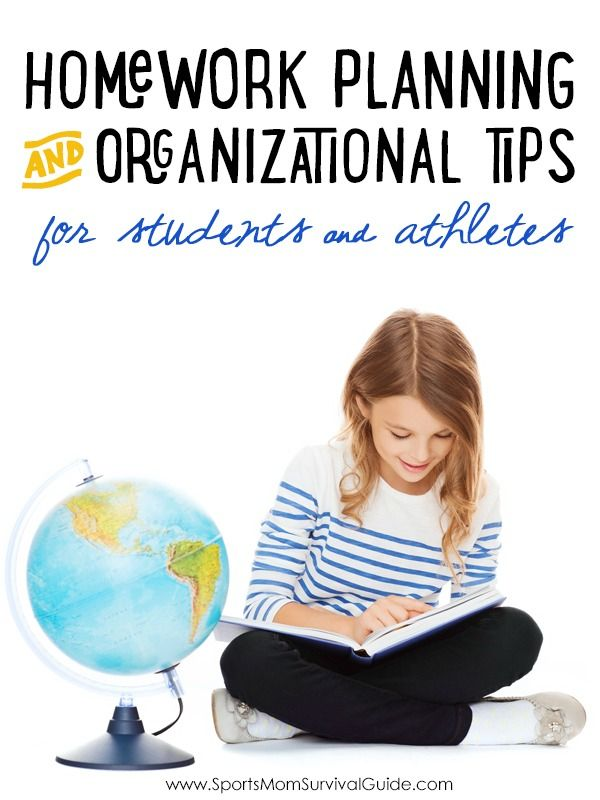 Homework Planning And Organizational Tips