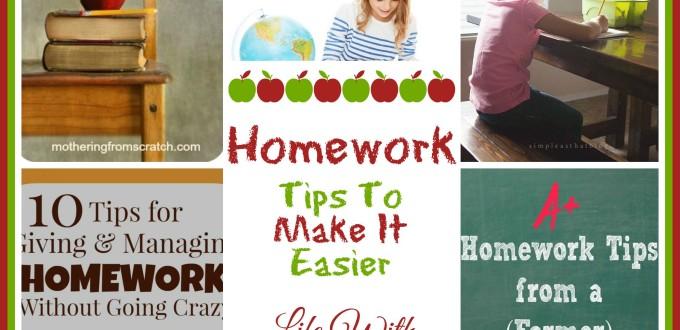 Homework – Tips To Make It Easier